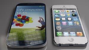 افضل جهاز جالكسي اس 4 أم ايفون 5