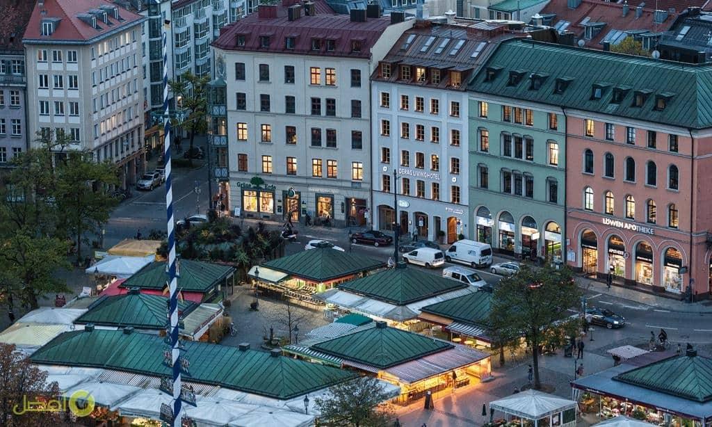 فندق ديراغ ليفينغ أم فكتوالينمار افضل فنادق ميونخ مارين بلاتز