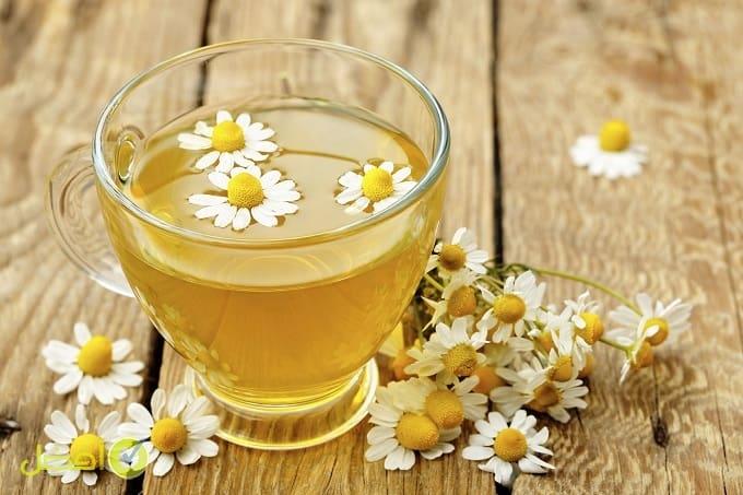 شاي البابونج لعلاج الكدمات
