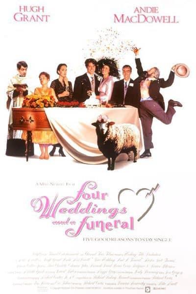 فيلم أربع زيجات وجنازة Four Weddings and a Funeral 1994