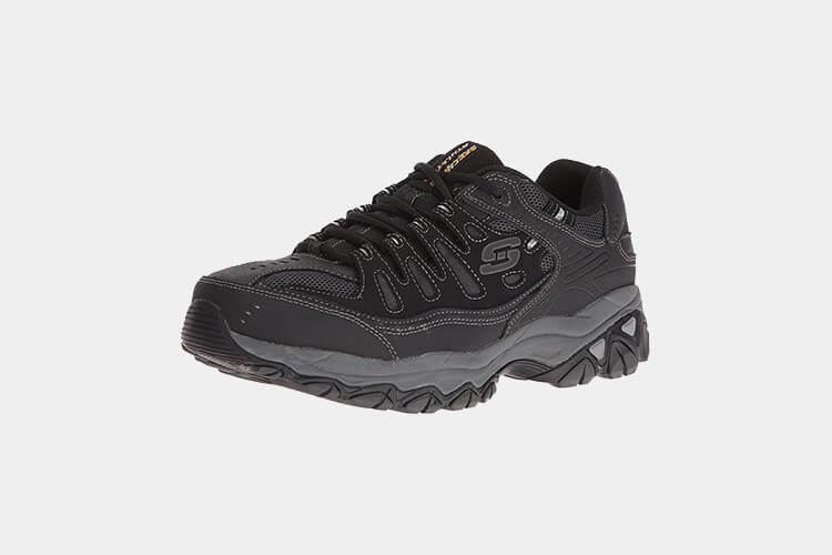 سكيتشر ميموري فوم  Memory-Foam Lace-up Sneaker Skechers Sport Men's Afterburn  افضل حذاء للمشي 2019