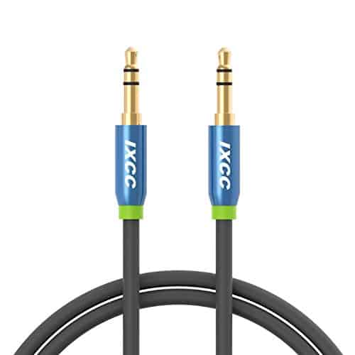 iXCC 3-ft Tangle-Free Cable سلك aux للسيارة