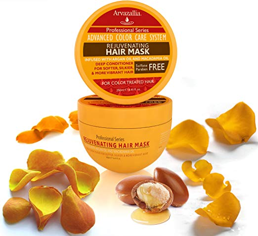 ARVAZALLIA REJUVENATING HAIR MASK AND DEEP CONDITIONER FOR COLOR TREATED HAIR