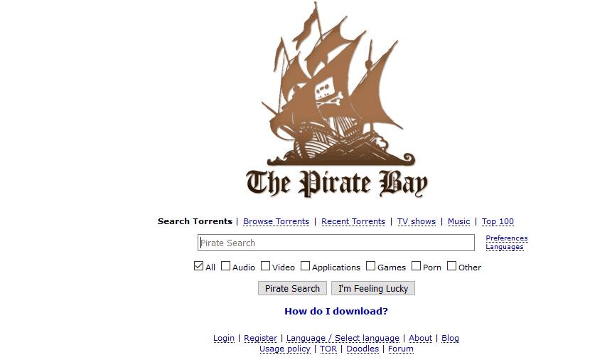 The Pirate Bay أحد افضل مواقع التورنت 2018