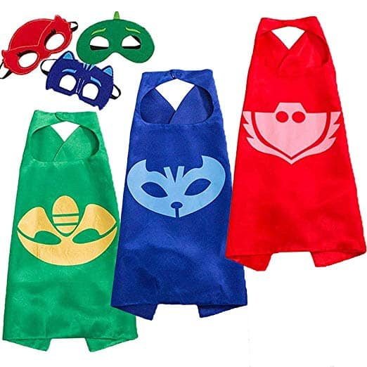 كوستوم بي جي ماسكس Funhall Capes and Masks for Catboy Owlette Gekko