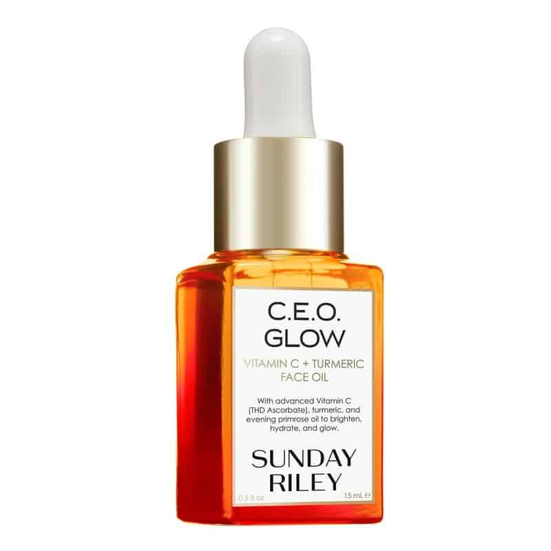 فان صنداي ريلي Sunday Riley CEO Glow Vitamin+Turmeric Face Oil سعر سيروم فيتامين سي من فيشي