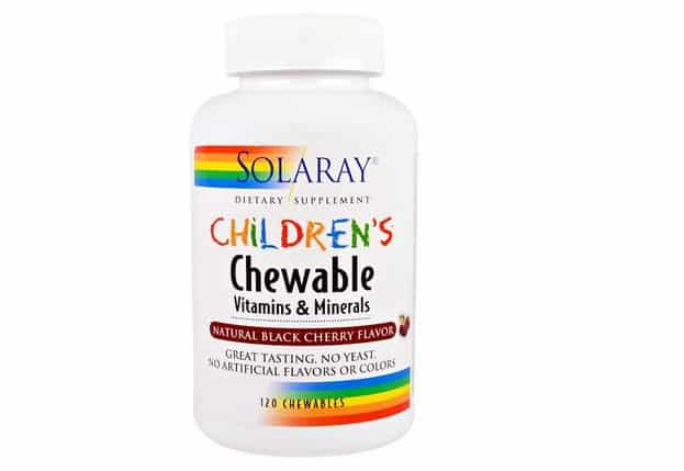 علكة الفيتامين سولاراي Solaray, Children's Chewable Vitamins and Minerals