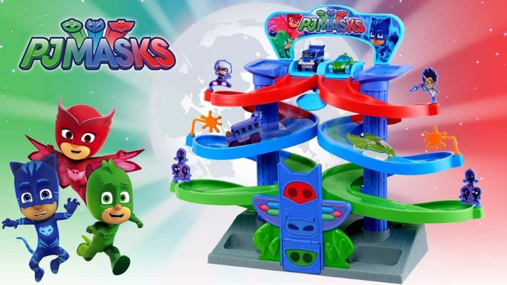 PJMASKS Spiral Die Cast Playset
