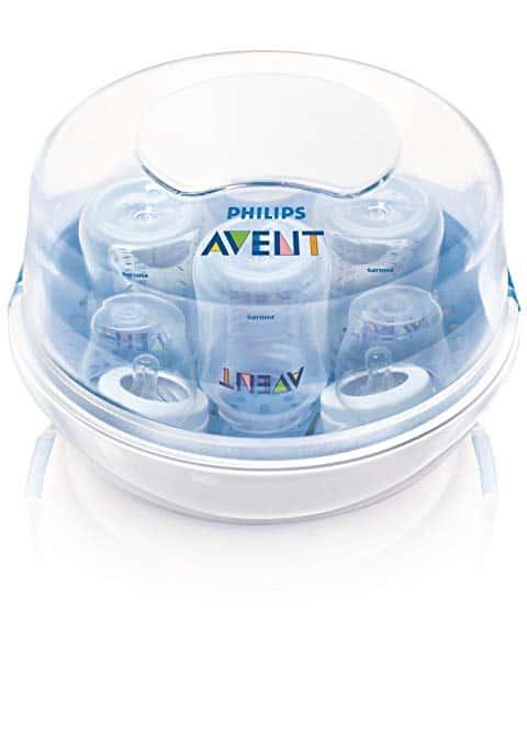 فيليبس افينت Philips AVENT Microwave Steam Sterilizer افضل جهاز تعقيم الرضاعات لصحة أطفالك