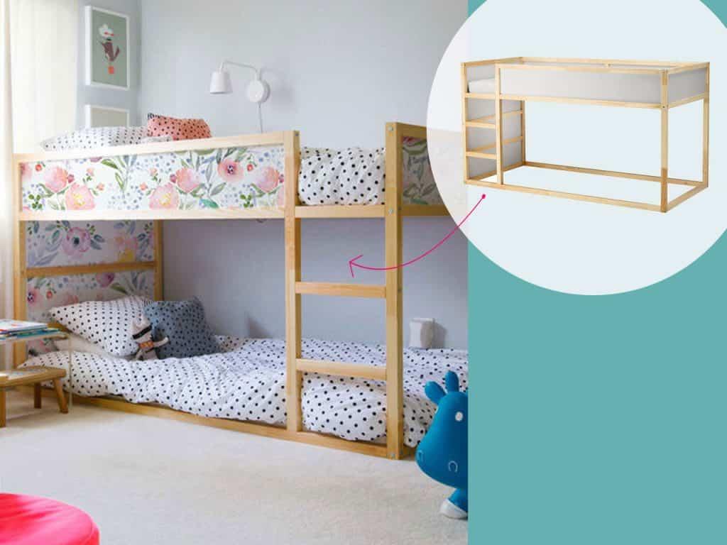 تحويل شكل سرير بطابقين إلى شكل مزخرف