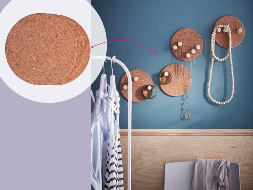 تحويل الحامل الواقي من الحرارة إلى حائط لتعليق المجوهرات