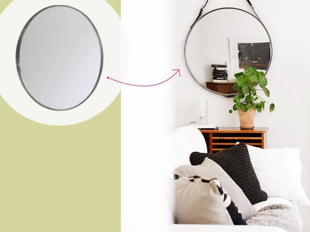 تحويل مرآة دائرية إلى إضافة عصرية لحائطك