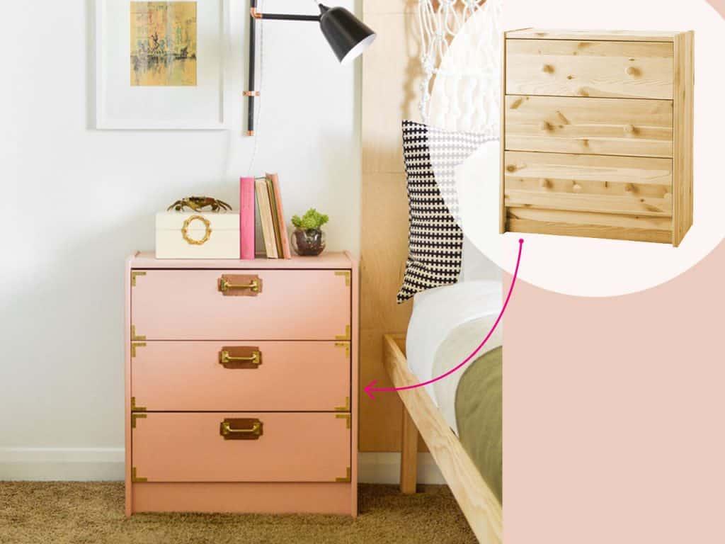 تحويل أدراج إلى منضدة جانب السرير