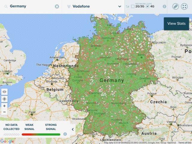 افضل شريحة بيانات واتصال في المانيا 4g_network_coverage_map_vodafone_germany-1