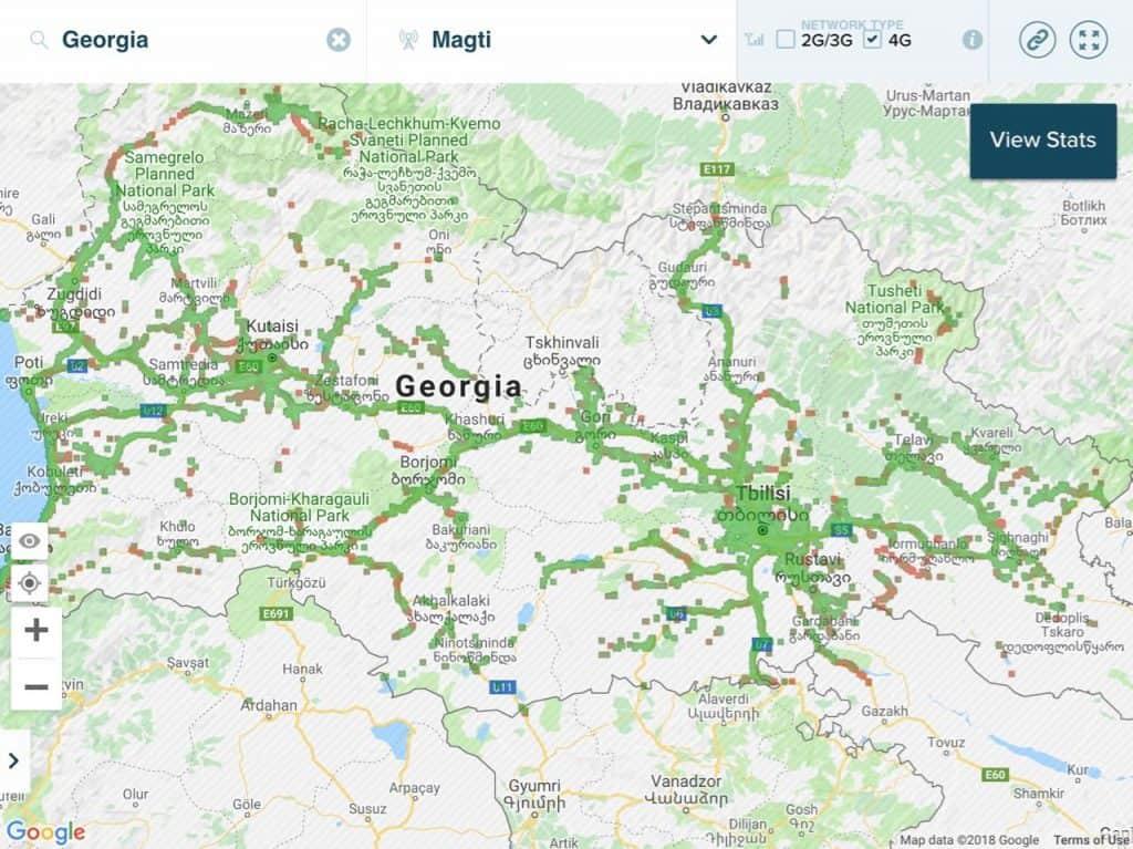 شبكة فور جي 4G ماجتي جورجيا