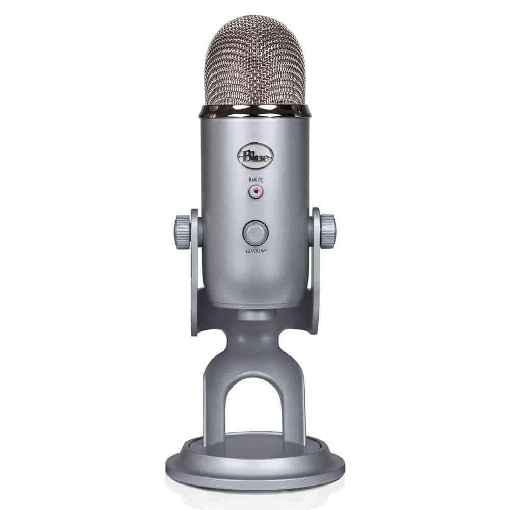 بلو يتي Blue Yeti USB Microphone – Silver افضل ميكروفون لليوتيوب والبودكاست والتسجيل الصوتي