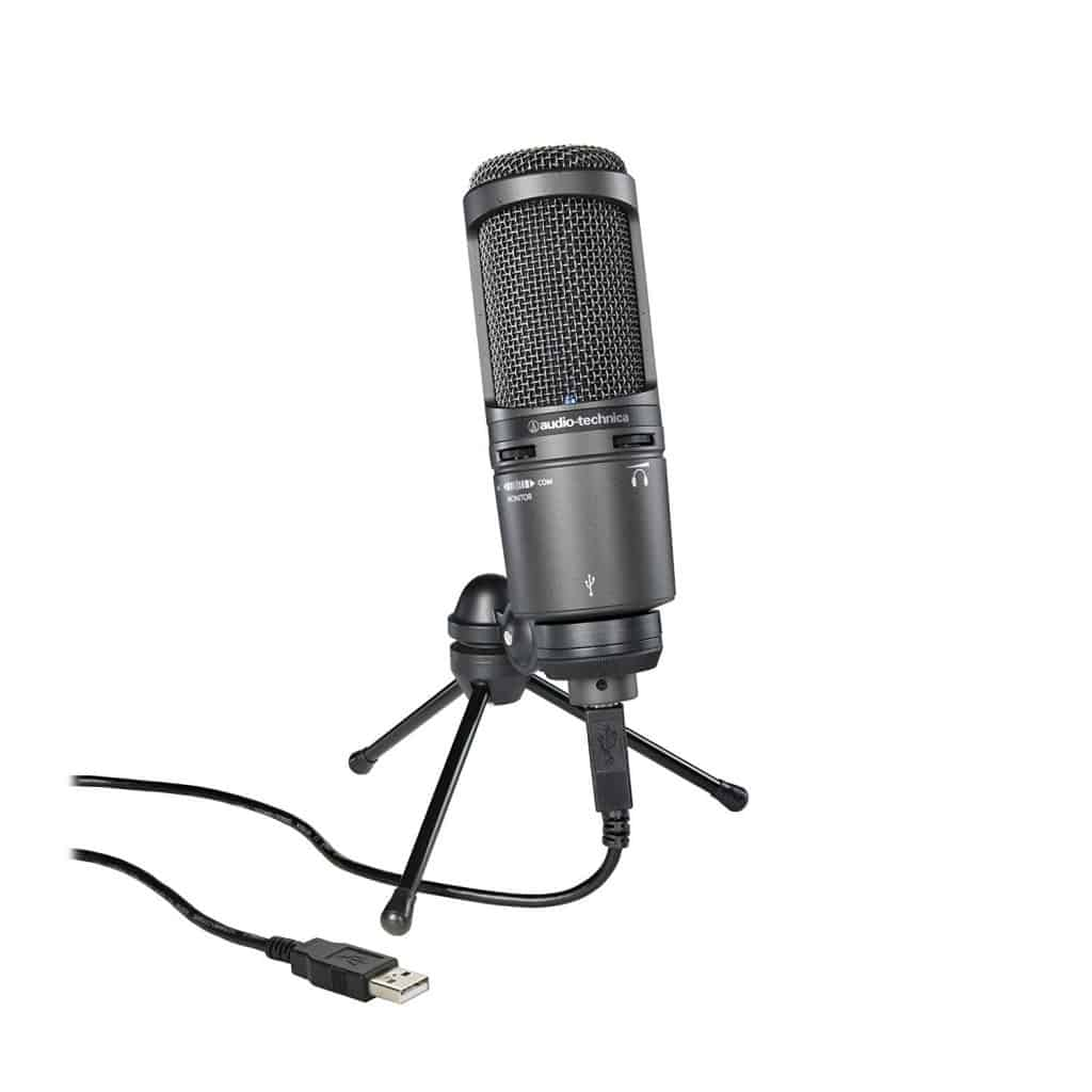 اوديو تشينيكا Audio-Technica AT2020USB+ Cardioid USB Mic افضل مايك usb