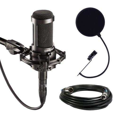 Audio-Technica AT2035 Large Studio Condenser اوديو تشينيكا Mic ميكروفون للهاتف