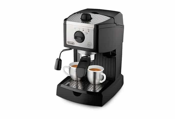 ديلونجي اسبريسوDe'Longhi 15 Bar Pump Espresso (model EC155) افضل ماكينات قهوة نسبريسو أقل من ١٠٠٠ ريال