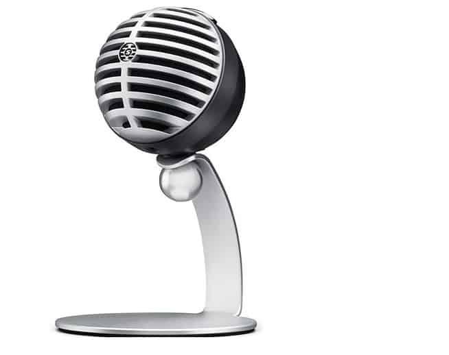 افضل مايكروفون للبودكاست وتسجيل الصوتيات الاحترافية SHURE MV5