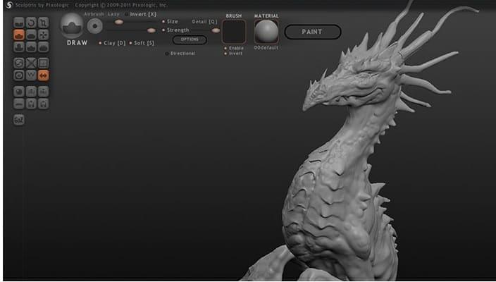 Sculptress افضل برامج رسم ثلاثي الأبعاد