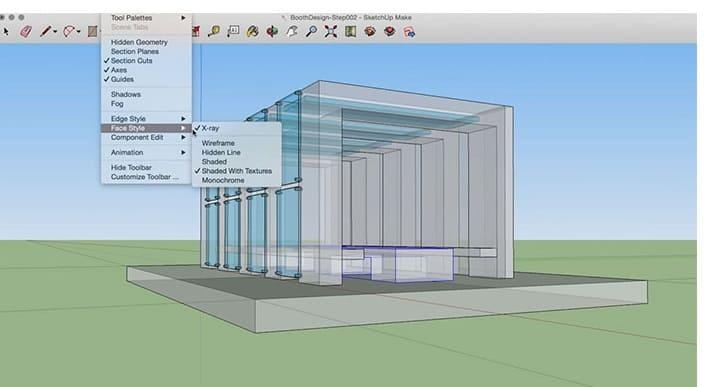 SketchUp Make برنامج رسم ثلاثي الابعاد للمنازل