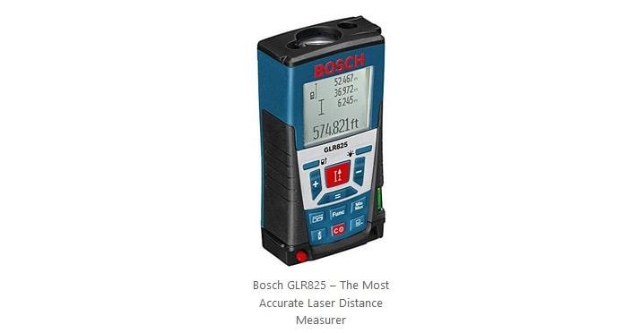 افضل جهاز ليزر لقياس المسافات الأكثر دقة Bosch GLR825