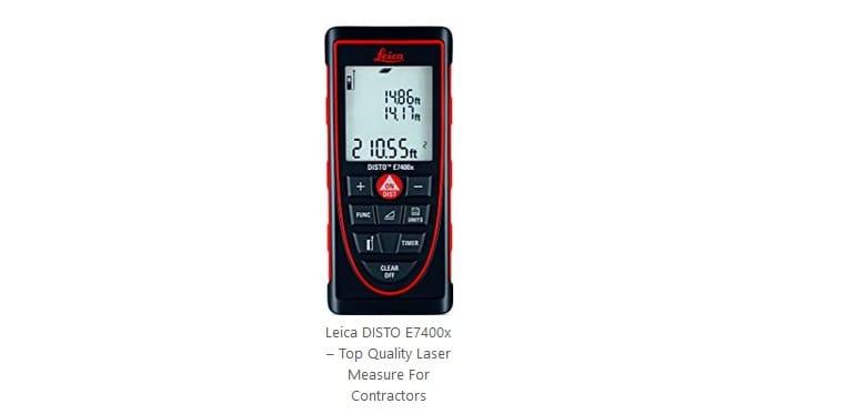 افضل جهاز ليزر لقياس المسافات لأعمال البناء Leica DISTO E7400x
