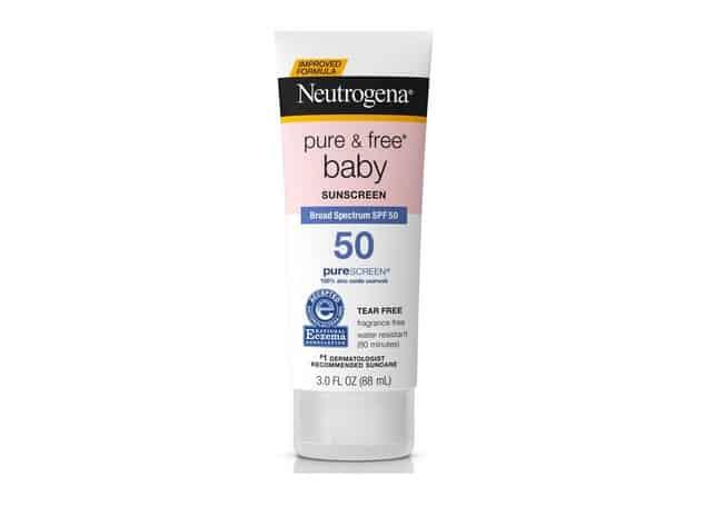 افضل كريم واقي شمس للاطفال واقي الشمس واسع الطيف نيوتروجينا بيور Neutrogena Pure & Free SPF 50