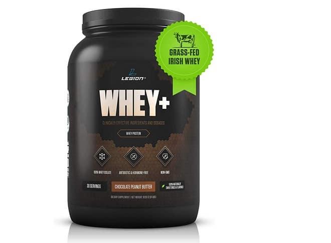 أفضل منتج ذو سعرات حرارية منخفضة:legion Athletics Whey+ Protein Powder