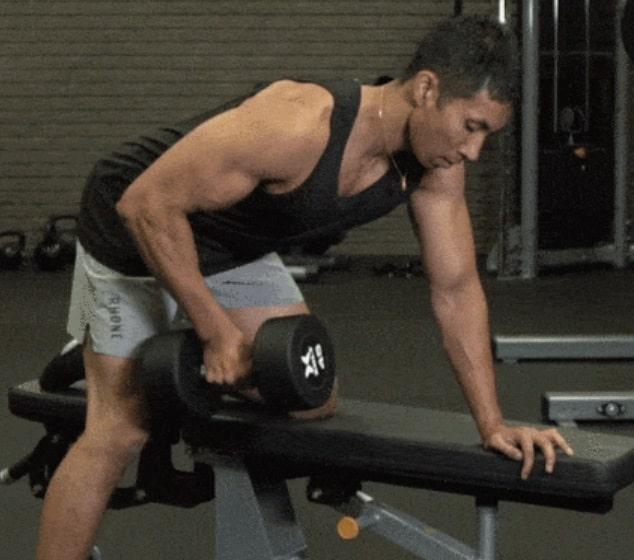 افضل تمارين الظهر تمرين الدمبل بذراع واحدة Dumbbell Single Arm Row