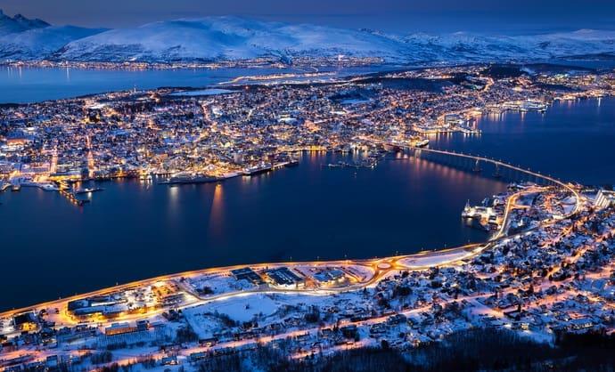 افضل الاماكن السياحيه في النرويج ترومسو Tromsø