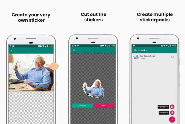 تطبيق وبرنامج Sticker Studio لصنع ملصقات واتساب شفافة