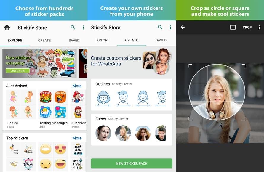برنامج Stickify لصنع ستكيرات واتساب شفافة