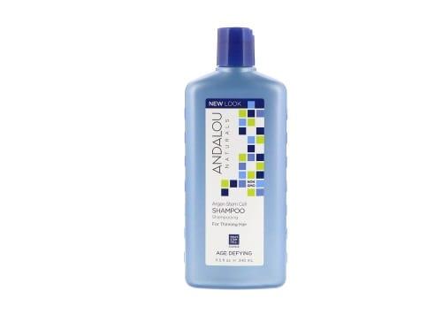 Andalou Naturals, شامبو لعلاج الشعر الخفيف بالخلايا الجذعية لزيت الأرجان