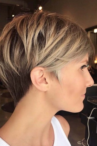 افضل تسريحات للشعر القصير تصفيفة الشعر الطويل بيكسي الطبقات Layered Long Pixie Hairstyle