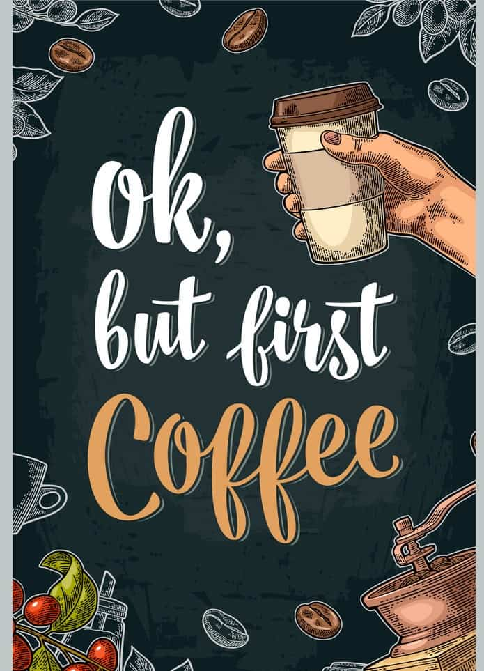 كتاب OK But First Coffee