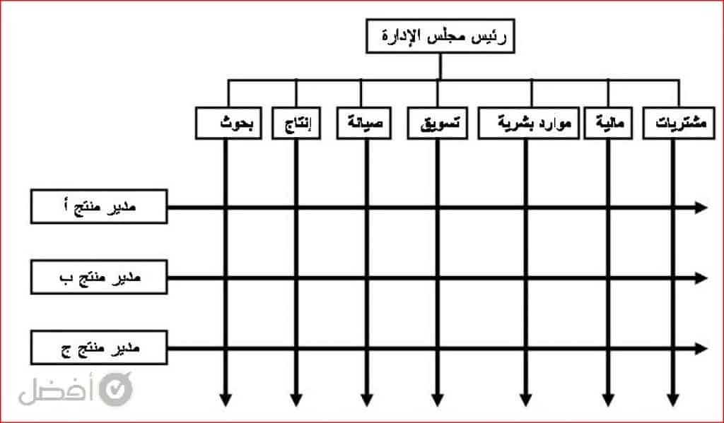 نموذج هيكل تنظيمي فارغ