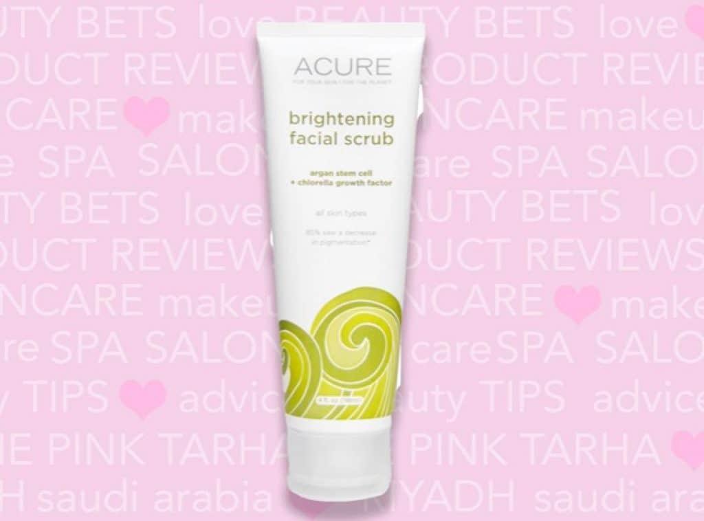 مقشر الوجه من اكيور اورجانيكس Acure Organics Brightening Facial Scrub افضل منتجات اي هيرب للبشرة الحساسه والدهنية