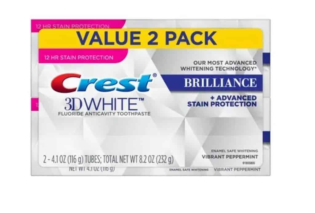 أفضل معجون لتبييض الأسنان للمدخنين Crest 3D White Brilliance Toothpaste